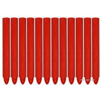 Крейда маркувальна для різних поверхонь YATO : 120 x 12 мм, червона, 12 шт