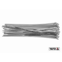 Хомут зажимной с нержавеющей стали YATO 4.6 х 600 мм 100 шт