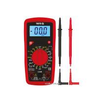 Мультиметр цифровой с LCD-дисплеем и проводными контактами YATO