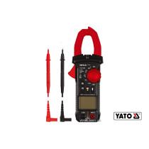 Мультиметр-кліщі для вимірювання електричних параметрів YATO з цифровим LCD-дисплеєм + чохол