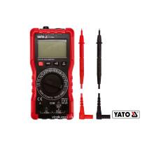 Мультиметр для вимірювання електричних параметрів YATO з цифровим LCD-дисплеєм + чохол