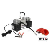 Компрессор автомобильный YATO 12 В 250 Вт 60 л/мин 1 МПа + шланг 5 м + насадки + мешок