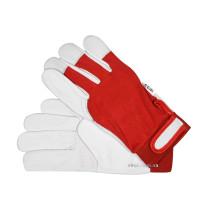 Перчатки рабочие бело-красные YATO хлопок + кожа размер 10