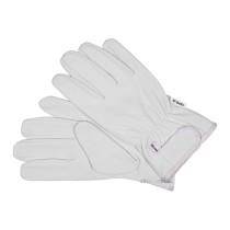Перчатки рабочие белые с застежкой-липучкой YATO кожа размер 10