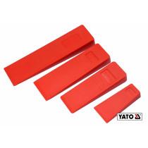 Набор пластиковых клиньев для раскалывания дерева YATO 300/245/205/136 мм 4 шт