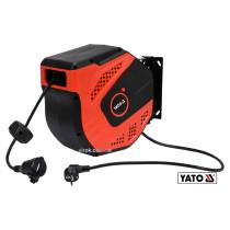 Удлинитель электрический на катушке YATO 20 м 1.5 мм² 3-жильный