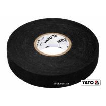 Лента изоляционная тканевая черная YATO 25 м x 19 x 0.3 мм -40°С - +105°С