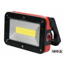 Прожектор с COB-диодами аккумуляторный YATO Li-Ion 3.7 В 2 Ач 5 Вт 300 лм 5 режимов + магнит