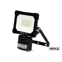 Прожектор с SMD-диодами и датчиком движения YATO 20 Вт 1800 лм 120° 28 диодов