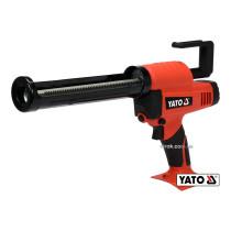 Пистолет для клея и герметика аккумуляторный YATO Li-Ion 18 В для тюбов 225 мм 0.5-8 мм/с (БЕЗ АККУМУЛЯТОРА)
