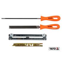 Засоби для гостріння відрізних ланцюгів з напильником YATO : Ø=4.5 мм, 4 шт