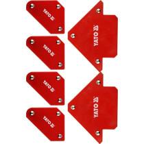 Кутники магнітні для зварюв YATO: кут: 45°, 90°, 135°, 4- 4.5 кг, 43х72х12мм, 2- 11,5кг, 82х118х14мм