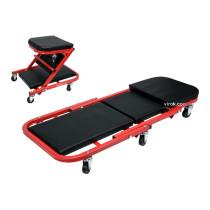 Лежак-сидіння для ремонту YATO на 6 колесах, 91х 42х 13 см, для навантаження лежаче/сидяче положення - 150/120 кг