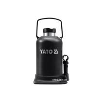 Домкрат гидравлический бутылочный YATO 15 т h=231-498 мм