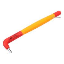 Ключ 6-гранний Г-подібний YATO М3 мм l=130 мм b=25 мм з діелектрично ізольованим корпусом до 1000 В