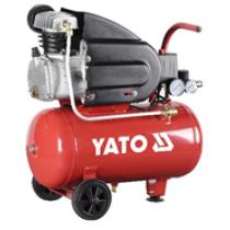 Компрессор сетевой YATO 230 В, 1,5 кВт, давление ≤ 8 Bar, под. воздух- 150 л / мин, ресивер- 24 л