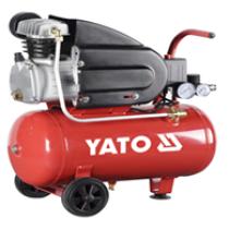 Компрессор сетевой YATO 230 В, 1,5 кВт, давление ≤ 8 Bar, под. воздух-188 л / мин, ресивер- 50 л