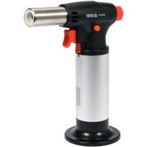 Пальник газовий YATO 200 Вт, з заправлювальною ємністю; витрата 13,1 гр/год