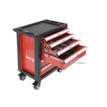 Шафа з інструментами YATO на колесах, 6 шуфляд, 97,5x76,5x46,5 см, наб. 177 елем.