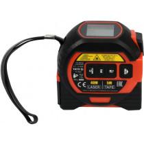 Дальномір-рулетка лазерний з перехресними променями YATO в межі 0.2- 40 м, з метричною стрічкою- 5 м/19 мм