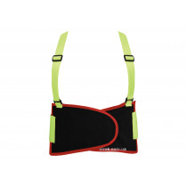 Пояс для підтримки спини YATO еластичний зі збільшеною видністю (зелений), 125х 20 см, розмір XL
