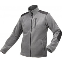 Куртка робоча з грубого фліса YATO розмір M, сіра, 3 кишені, зміцнювальні нашивки, 100% поліестер