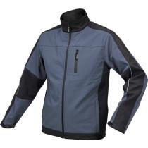 Куртка робоча SOFTSHELL YATO розмір XL, чорно-темно-сіра, 3 кишені, 96% поліестер і 4% спандекс