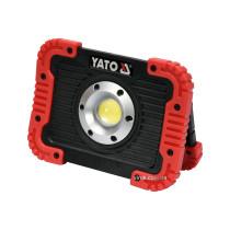 Прожектор діодний, переносний YATO акумулятор 3.7 В, 4.4 АГод; 10 Вт, 800 Lm, кабель USB