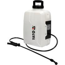 Оприскувач рюкзаковий акумуляторний YATO: бачок- 12 л, продуктивність- 1,5 л/хв (БЕЗ АКУМУЛЯТОРА)
